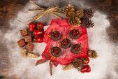 Christmas donuts — Stock Photo