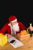 Santas temptation — Stock Photo
