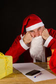 Grumpy Santa — Stock Photo