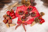 рождественские пончики — Стоковое фото