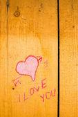 Valentines graffiti — Stock Photo
