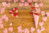 Valentines still life — Stock Photo