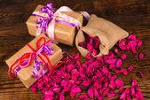 Valentines arrangement — Stock Photo