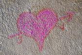 Chalk heart — Stock Photo