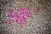 Heart of chalk — Stock Photo