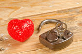 Lock and key to a heart — Photo