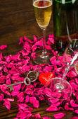 Valentines toast still life — Stock Photo