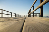 Jetty low angle viepoint — Stock Photo