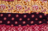Patterned cotton fabric — Stock Photo