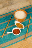 Asian cuisine staples — Stock Photo