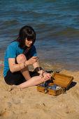 Skatt på stranden — Stockfoto
