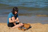 Tesoro sulla spiaggia — Foto Stock
