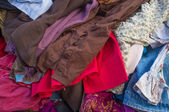 Pile of second hand clothes — Photo
