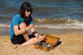 Schatz am strand — Stockfoto