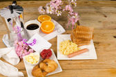 Breakfast table — Stock Photo