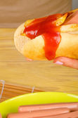 Greasy hot dog — Stok fotoğraf