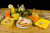 Sailboat hot dogs — Zdjęcie stockowe