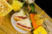 Sailboat hot dogs — Stockfoto