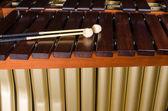 Marimba  keys and resonators — Zdjęcie stockowe