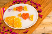 Fruity Valentines dessert — Stock Photo