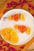 Fruit skewers — Stock Photo