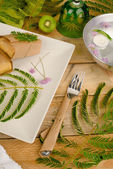Table arrangement — Stock Photo