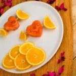 Fruity Valentines dessert — Foto de Stock   #50376953