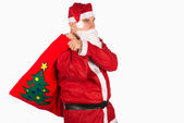 Santa with sack — Stock Photo
