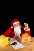 Santa having a fag — Stock Photo