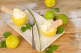 Homemade lemon sorbet — Stock Photo