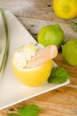 Lemon sorbet — Stock Photo