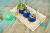 Blue ice pops — Stock Photo