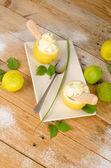 Lemon sorbet — Stock Photo