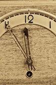 Old clock full frame — Stock Photo