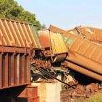 Train derailment near Silverlake, Kansas — Stock Photo #3477809