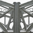 Steel Girders on a Metal Truss Bridge — Stock Photo