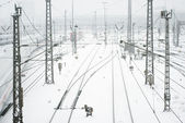 Munich Train Station in Snow — Stock Photo