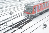 Public Transportation in Winter — Foto Stock