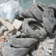 Stock Photo: Rubble and Old Tires