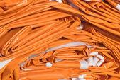 折叠防水油布在橙色 — 图库照片