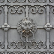 Wrought Iron Door with Lion — Stock Photo