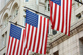 Three American Flags — Stock Photo