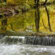 Autumn Brook with Waterfall — Stock Photo