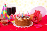 Birthday table — Stock Photo
