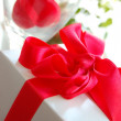 Gift box and red rose — Stock Photo #1852454