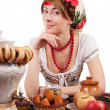 Hospitable russiwoman — Stock Photo #18744875