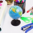Back to school concept with office stationary — Stock Photo