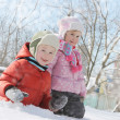 Children having fun in snow — Stock Photo #40143507