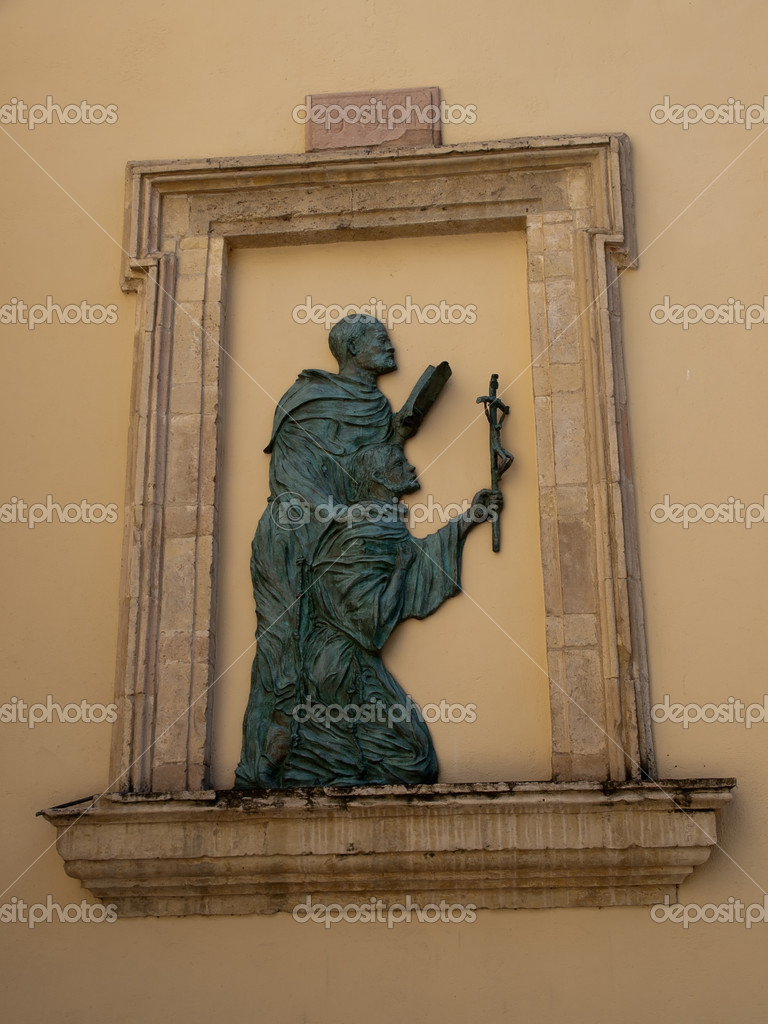 Relief at the church of  Santa Maria Maggiore in Assisi   Zdjcie stockowe #13215456