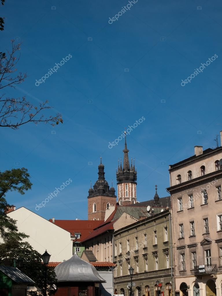 The Towers of St. Mary&#039;s Basilica in Krakow  Stock Photo #13531479